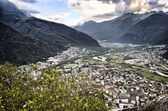 View of Valchiavenna valley, in northern Italy — Foto Stock