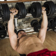 Bodybuilder working out in a gym — Stock Photo #51345889
