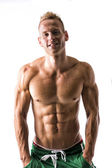 Muscular shirtless male model — Stock Photo