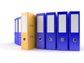 Yellow Ring Binder — Stock Photo