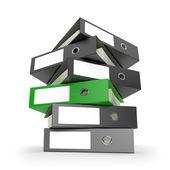 Green Ring Binder — Stock Photo