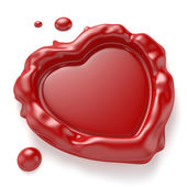 Heart-Shaped Wax Seal — Stock Photo