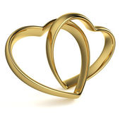 Heart-Shaped Wedding Rings — Stock Photo