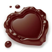 Heart-Shaped Chocolate Seal — Stock Photo