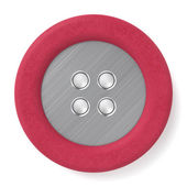 Leather & Metal Button — Stock Photo