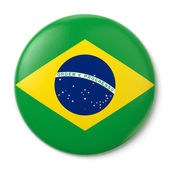 Brazil Pin-back — Stock Photo