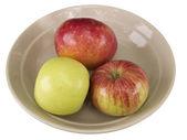 Three ripe apples — Stock Photo
