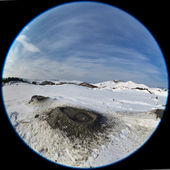Mud Volcanoes in winter. Buzau, Romania — Stock Photo