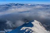 Zimowy krajobraz górski — Zdjęcie stockowe