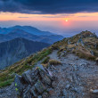 Stock Photo: Sunset over the Fagaras Mountains, Southern Carpathians