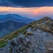 Sunset over the Fagaras Mountains, Southern Carpathians — Stock Photo