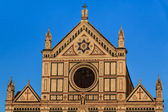 Church of basilica Santa Croce in Florence, Italy. — Stock Photo