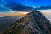 El pico negoiu. montañas de fagaras, rumanía — Foto de Stock