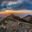 The Negoiu Peak. Fagaras Mountains, Romania — Stock Photo