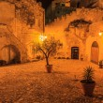 Sassi of Matera at night. — Stock Photo #28990569