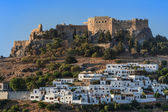 Lindos Castle and village — Stock Photo