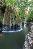 Bigar Cascade Falls in Nera Beusnita Gorges National Park, Romania. — Stock Photo