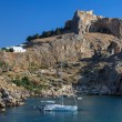 St Paul's Bay Beach in Lindos — Stock Photo