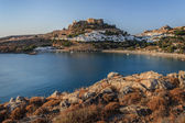 Lindos Castle and village — Stockfoto