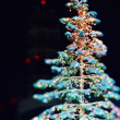 Toys on green christmas firtree  — Stockfoto