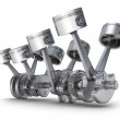 V8 engine pistons. 3D image. — Stock Photo #10111173