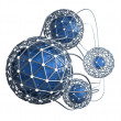 Network abstract 3D concept — Stockfoto