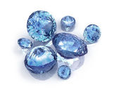 Blue Diamonds on white background — Stock Photo
