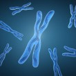 Chromosome x and DNA Strands — Stock Photo