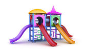 Colorful playground for childrens. Isolated on white — Stock Photo