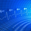 Digital pulse monitor abstract background - Stock Photo