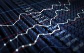 Börse-diagrammhintergrund — Stockfoto