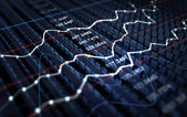 Stock market graph background — Stock Photo