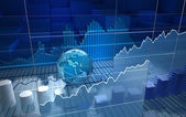 Stock exchange board, abstrato — Foto Stock
