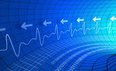 Digital pulse monitor abstract background — Stock fotografie