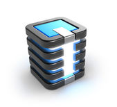 Server storage database icon over white — Stock Photo