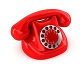 Old-fashioned phone over white background — Stock Photo