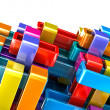 Royalty-Free Stock Photo: Colorful abstract blocks background