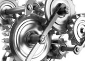 Gears and cogs working together. Reliable mechanism — Stock Photo