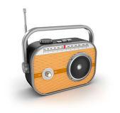 Retro radio on white background — Stock Photo