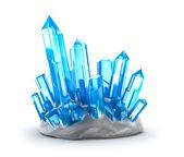Kristalle wachsen. isoliert auf weiss — Stockfoto