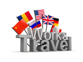 Work and travel concept. Isolated on white — Stock Photo