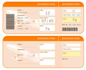 Boarding pass ticket concept. Both sides. Isolated. — 图库照片