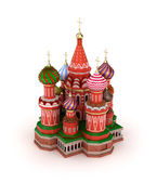 Saint Basil's Cathedral on the Red Square in Moscow, Russia — Stok fotoğraf