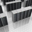 Datacenter: server room with server clusters. — Stock Photo
