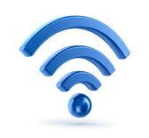 Wifi (wireless network) 3d icon symbol — Stock Photo
