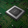 Quad core cpu op moederbord — Stockfoto