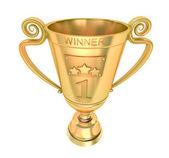 Golden cup sieger. — Stockfoto