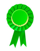 Blank green award badge. — Stock Photo