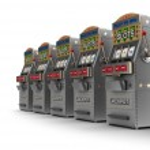 Постер, плакат: Set of slot machines