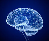 Impulsos del cerebro. proceso de pensamiento. — Foto de Stock